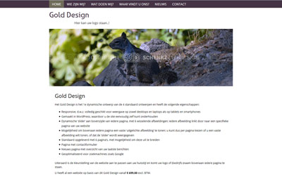 Screenshot Gold Design
