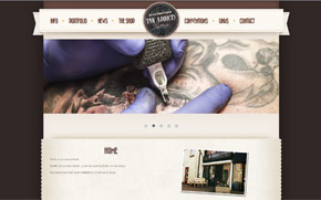 Screenshot website Ink Addicts