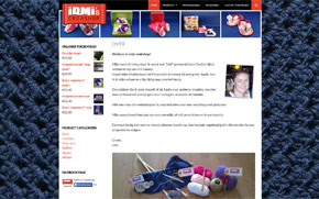 Screenshot website Irmi's Creashop