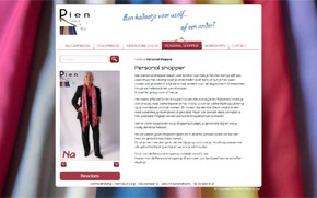 Screenshot website Pien Kleur & Stijl